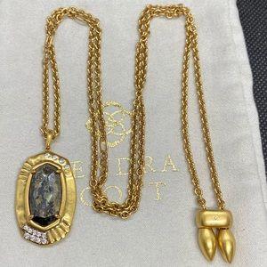 New Kendra Scott Vintage Gold Anna Black Pyrite